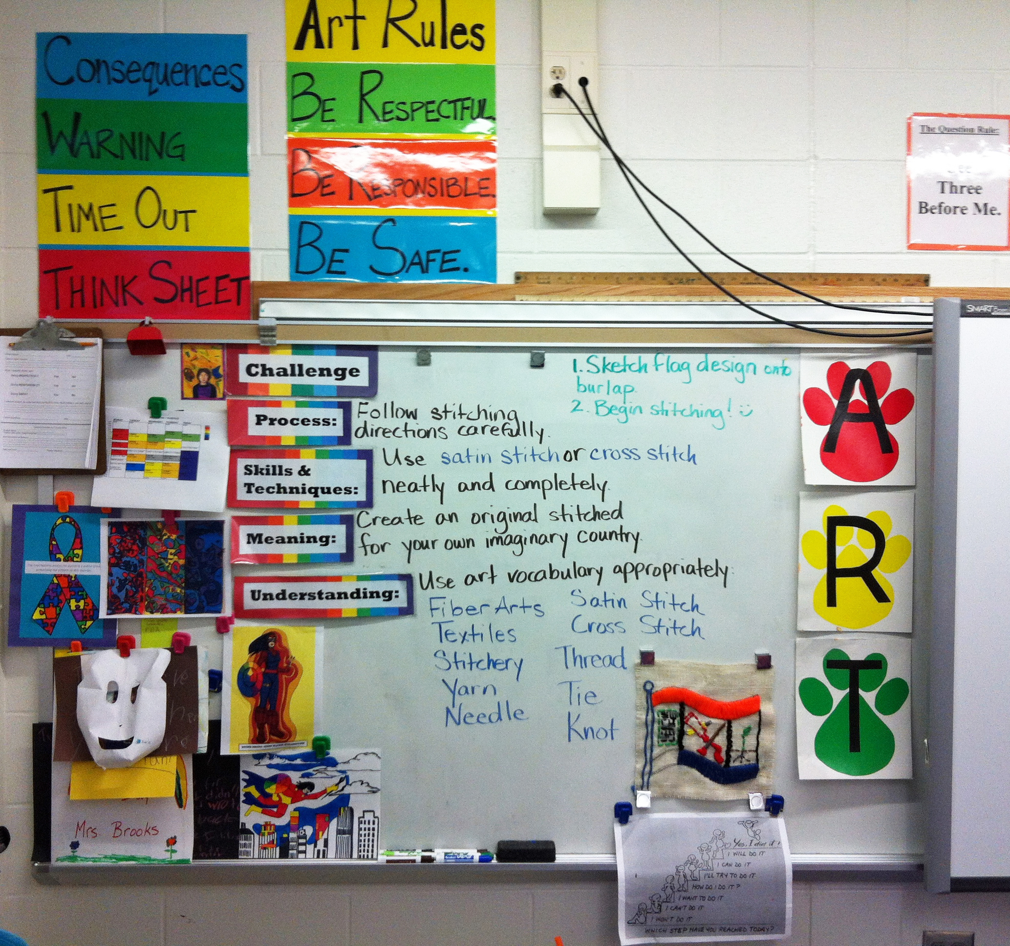 Organization art room tour 2013 general displays for Art classroom decoration ideas