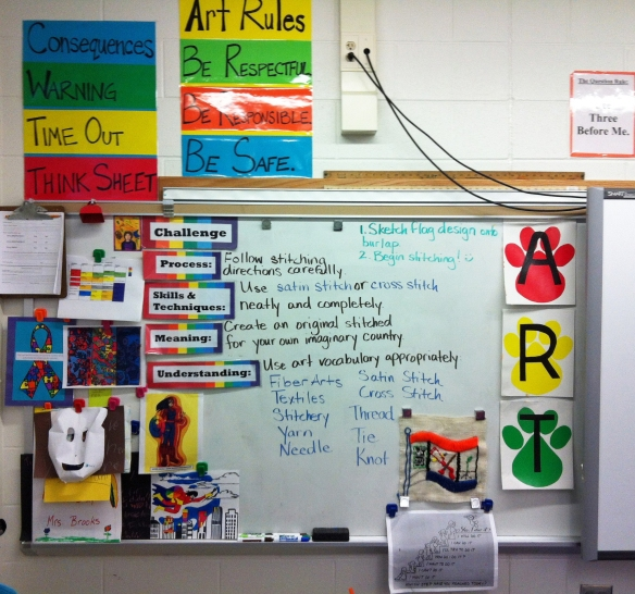 rules consequences and white board display