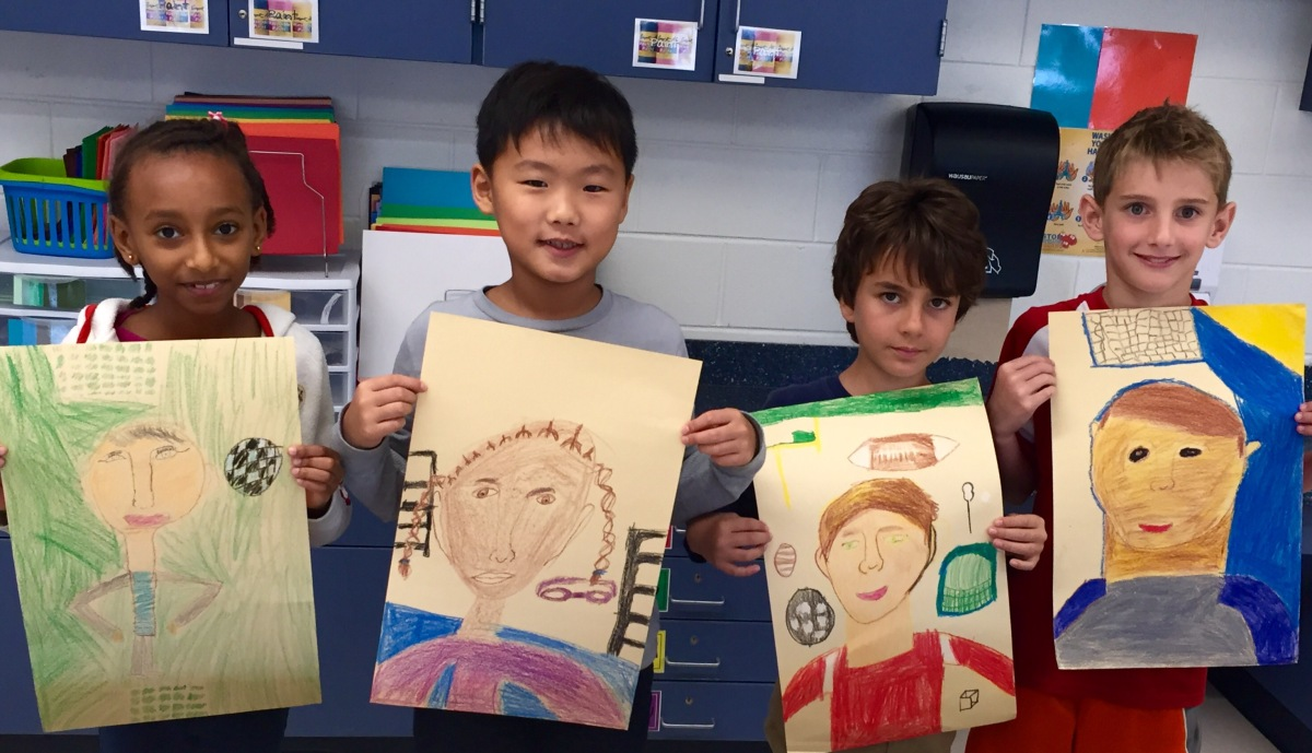 3rd Grade Portraits of Our Friends